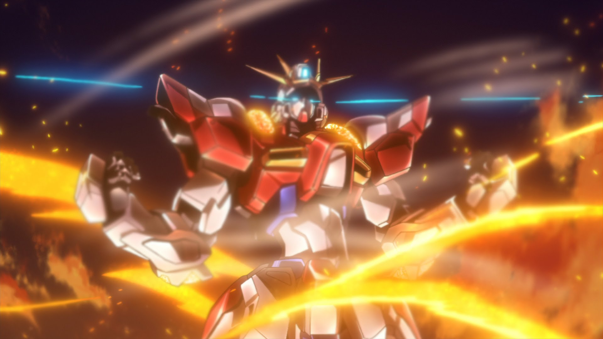 Hg Build Burning Gundam Supar Robo Try Genkai Nante Nai Zettai